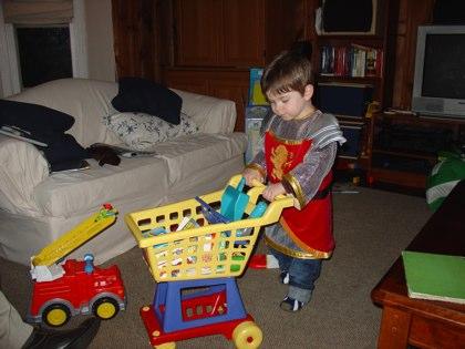 A shopping knight.