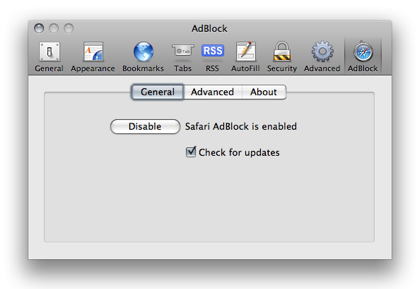 Safari AdBlock: 'Bout Time | Literal Barrage